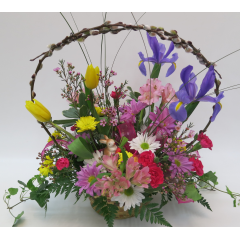 KD-3417 Spring Basket Bouquet - Deluxe