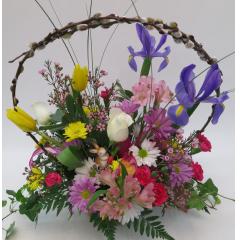 KD-3417 Spring Basket Bouquet - Premium