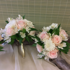Blush and White Bouquet - As Shown