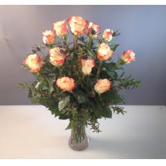 Dozen Colored Roses - As Shown