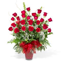 Premium Long Stem Red Roses - 2-Dozen