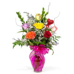 Premium Long Stem Color Roses - 1/2 Doz