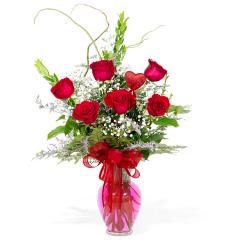 Premium Long Stem Red Roses - 1/2 dozen