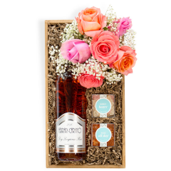 Roses & Rosé Gift Crate - Small (shown)