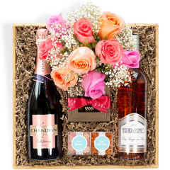 Roses & Rosé Gift Crate - Large