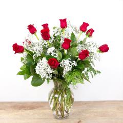 Long Stem Red Roses<br><i>1 dozen roses</i><br />