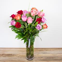 Long Stem Color Roses<br><i>2 dozen modern roses</i><br />