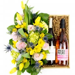 Pastel Blooms & Wine