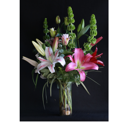 Ninth Street Flowers Durham - Features fragrant oriental lilies from our local grower…long lasting blooms that will provide the scent of freshness long after their arrival.