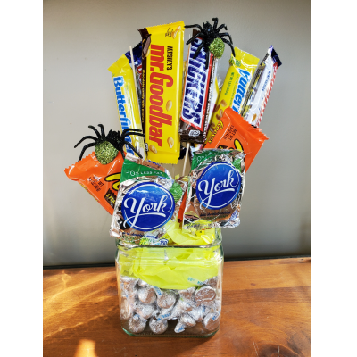 Ninth Street Flowers Durham - Selection of candy all decked out for Halloween! Limited supply