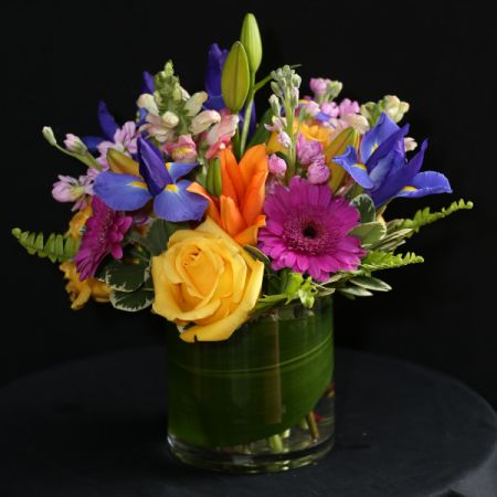 Ninth Street Flowers Durham - A wide assortment of bright, colorful summer flowers in a European compact design.