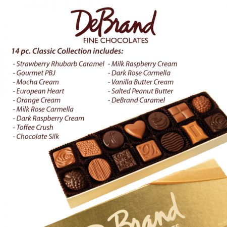 14 Piece DeBrand Chocolates Addon